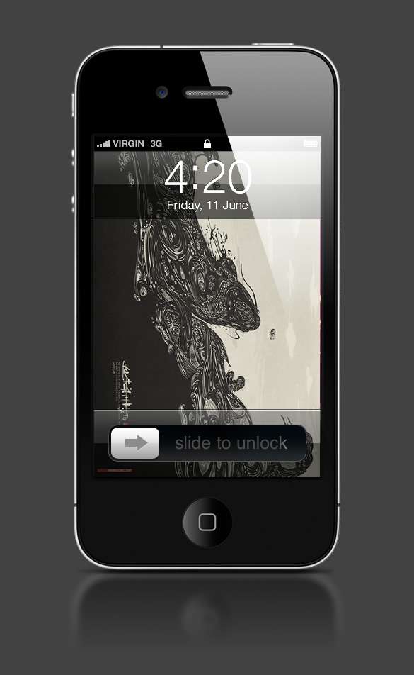 Abduzeedo's iPhone wallpaper of the week by Diego L. Rodríguez