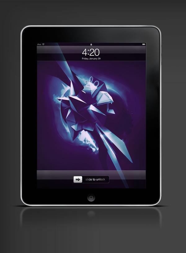 Abduzeedo's iPad wallpaper of the week by  Stephen Lam