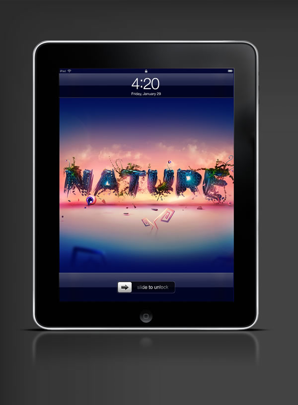 Abduzeedo's iPad wallpaper of the week by  Adam Spizak