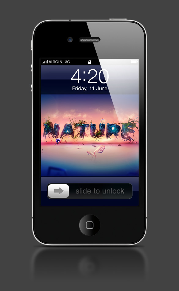 Abduzeedo's iPhone wallpaper of the week by Adam Spizak