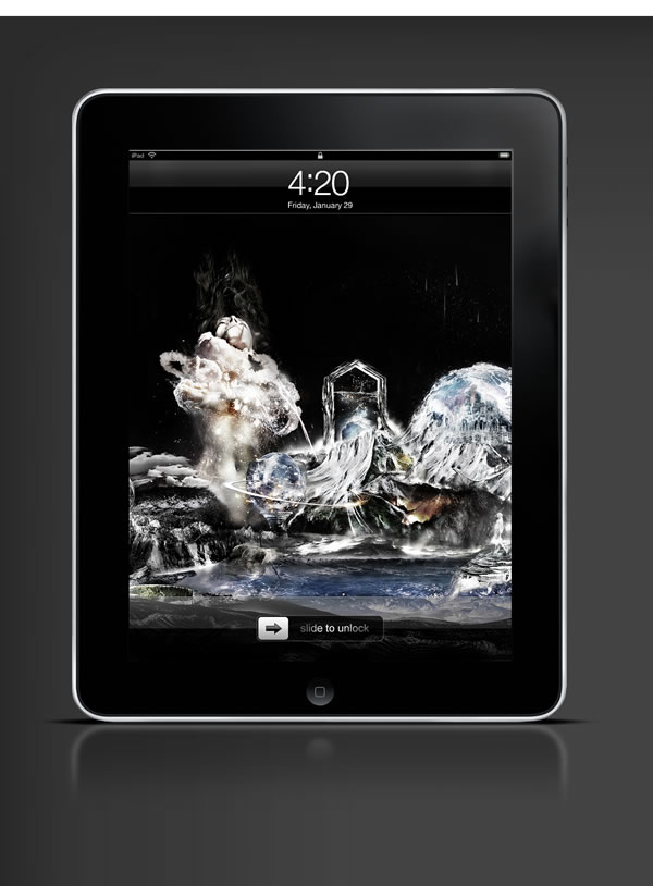 Abduzeedo's iPad wallpaper of the week by Diftnorm