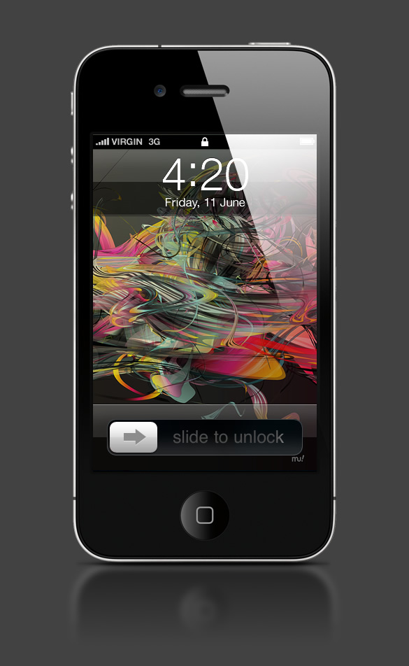 Abduzeedo's iPhone wallpaper of the week by Sebastian Murra