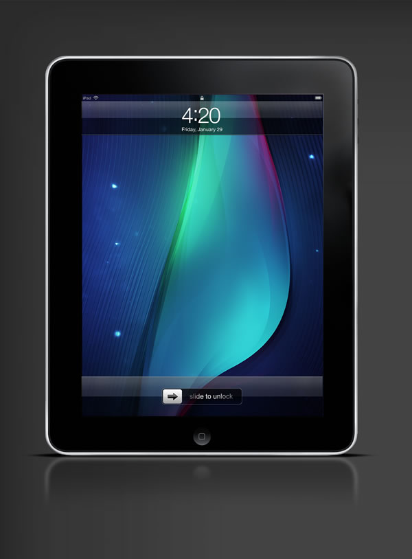 Abduzeedo's iPad wallpaper of the week by Jason Benjamin
