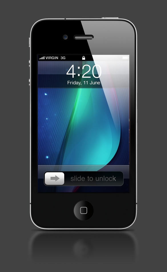 Abduzeedo's iPhone wallpaper of the week by Jason Benjamin