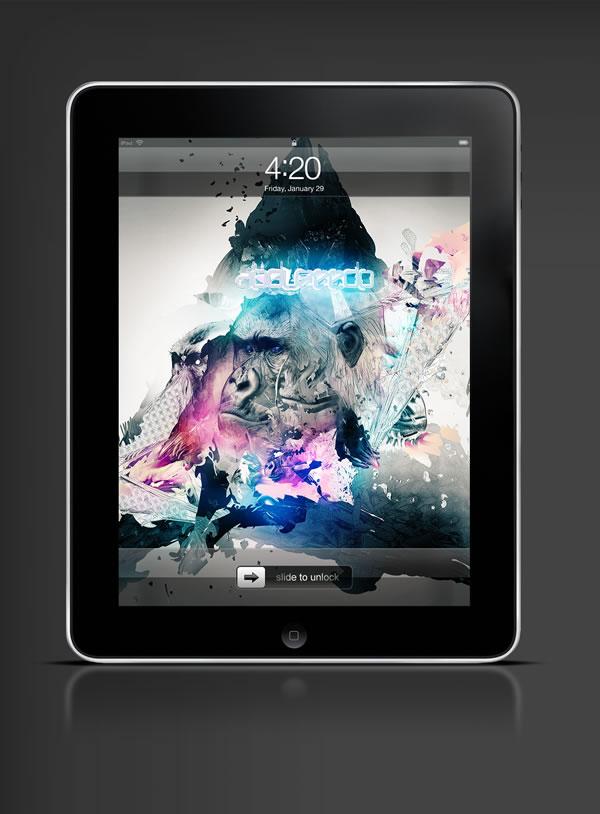 Abduzeedo's iPad wallpaper of the week by Adam Spizak