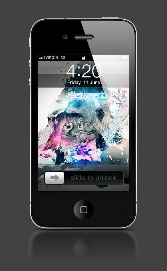 Abduzeedo's iPhone wallpaper of the week by Adam Spizak