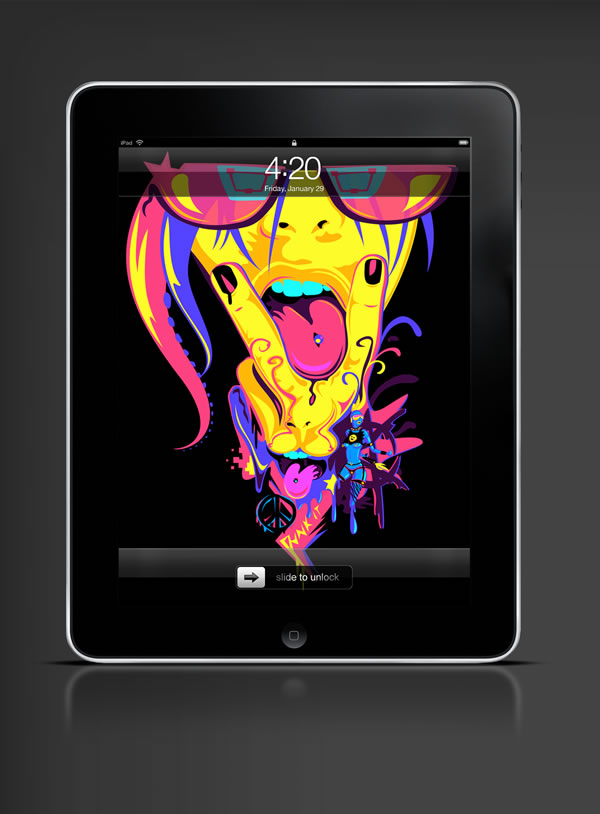 Abduzeedo's iPad wallpaper of the week by  Genaro DeSia Coppola