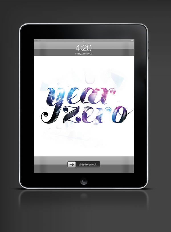 Abduzeedo's iPad wallpaper of the week by Jennifer Deniz Cirpici