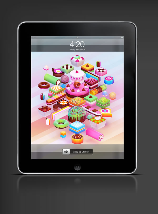 Abduzeedo's iPad wallpaper of the week by  Nik Ainley