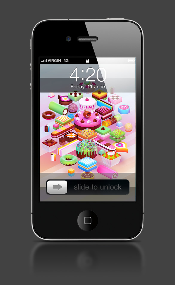 Abduzeedo's iPhone wallpaper of the week by Nik Ainley