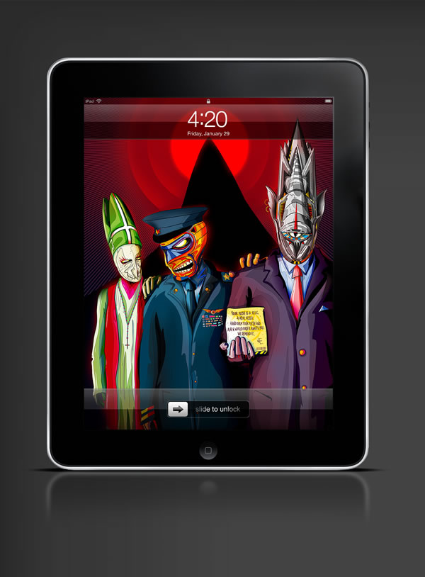 Abduzeedo's iPad wallpaper of the week by   Matei Apostolescu