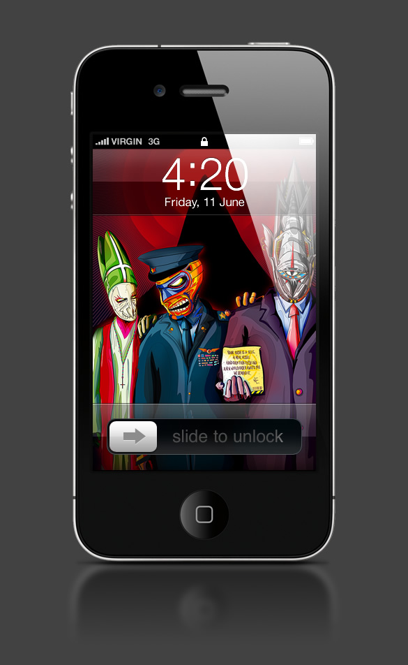 Abduzeedo's iPhone wallpaper of the week by  Matei Apostolescu
