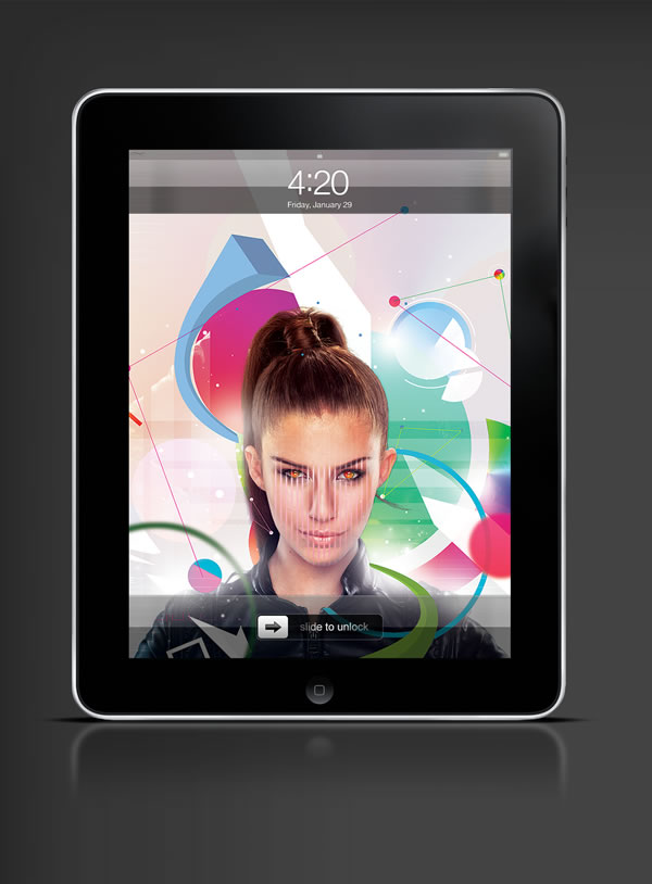Abduzeedo's iPad wallpaper of the week by Jonathan Wong