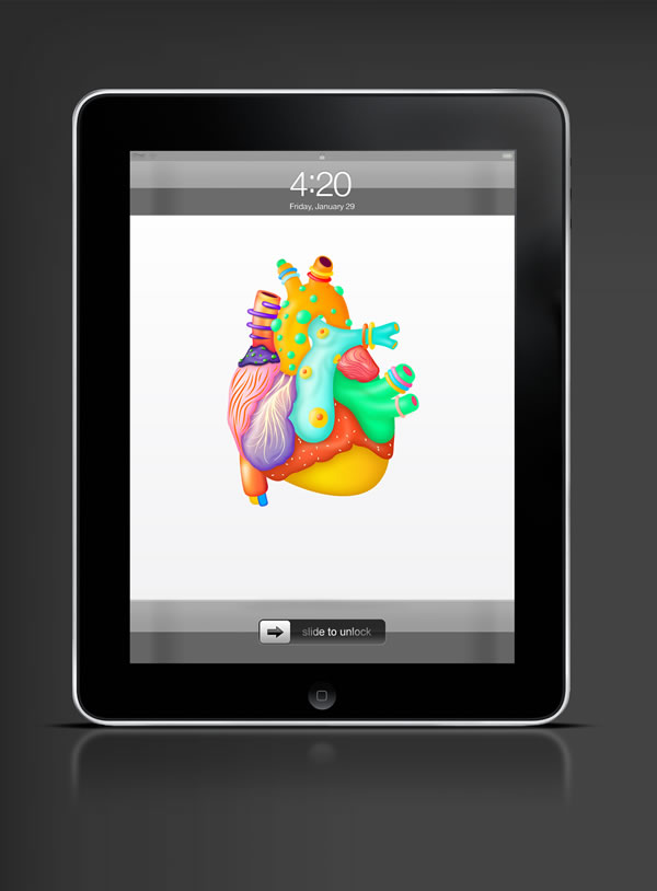 Abduzeedo's iPad wallpaper of the week by Karan Singh