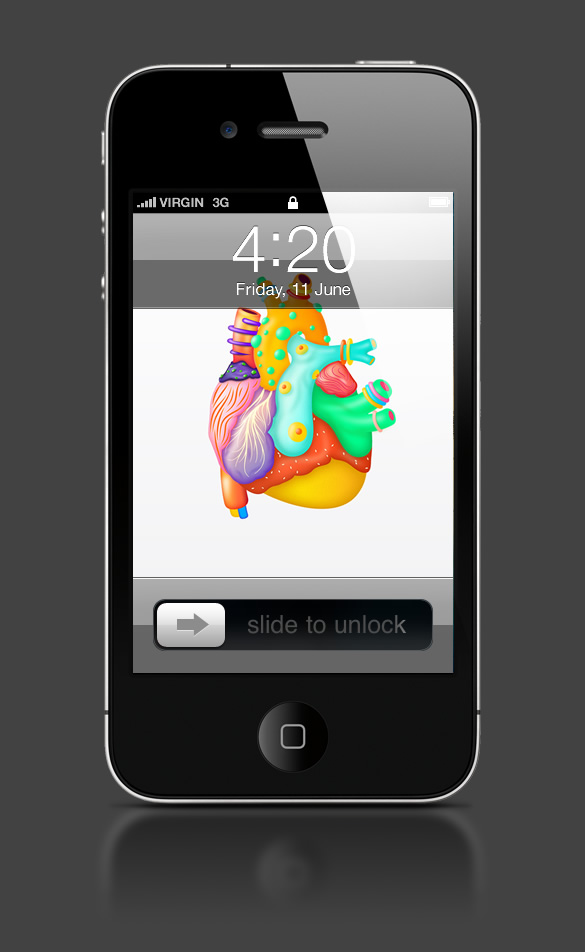Abduzeedo's iPhone wallpaper of the week by Karan Singh