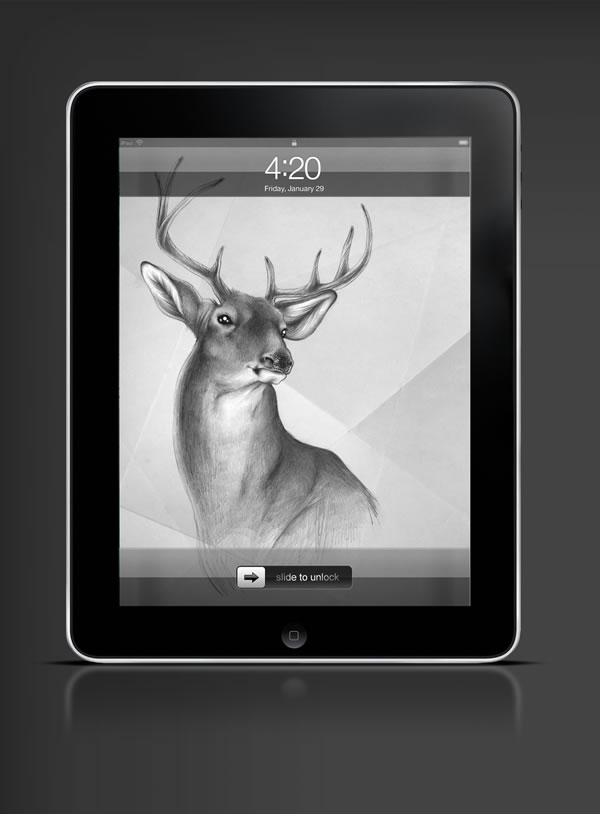 Abduzeedo's iPad wallpaper of the week by  Sabine Ten Lohuis