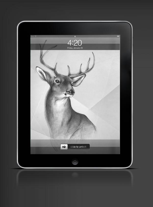 Abduzeedo's iPad wallpaper of the week by  Sabine Ten Lohuis