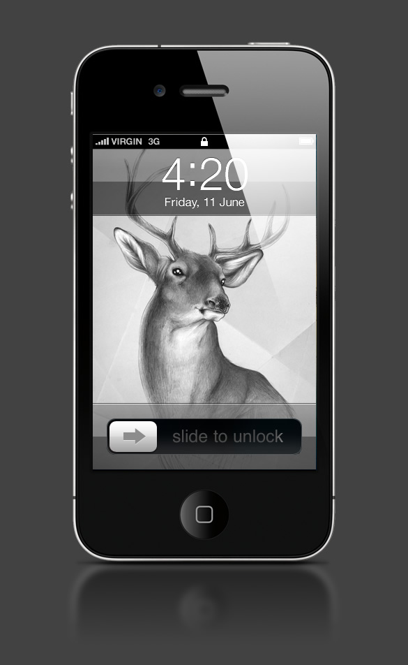 Abduzeedo's iPhone wallpaper of the week by Sabine Ten Lohuis