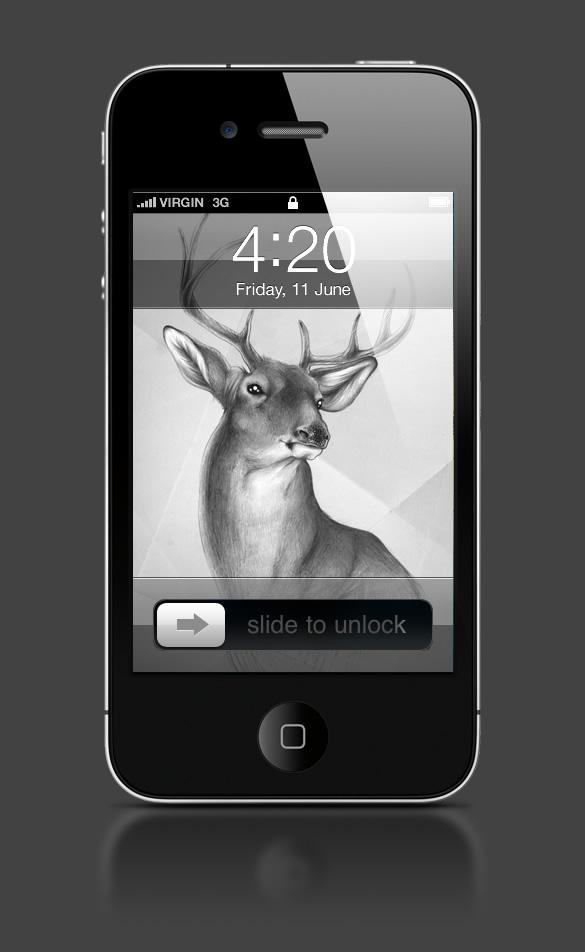 Abduzeedo's iPhone wallpaper of the week by Sabine Ten Lohuis