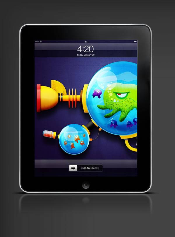 Abduzeedo's iPad wallpaper of the week by Joey Ellis