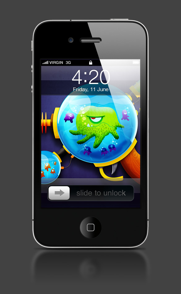 Abduzeedo's iPhone wallpaper of the week by Joey Ellis