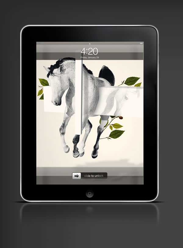 Abduzeedo's iPad wallpaper of the week by Takeshi