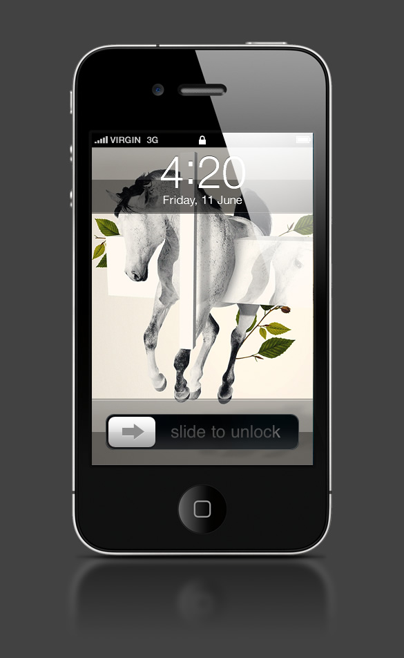 Abduzeedo's iPhone wallpaper of the week by Takeshi