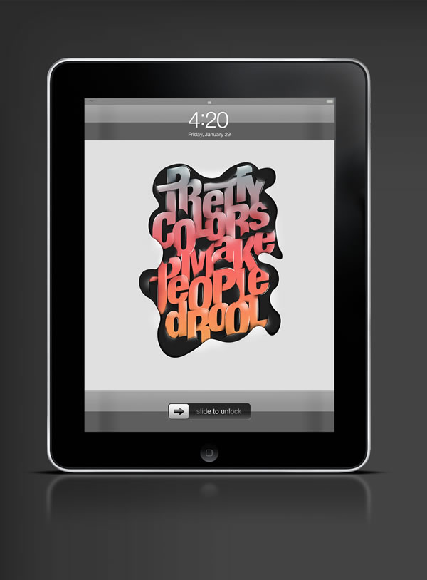 Abduzeedo's iPad wallpaper of the week by Fabian De Lange
