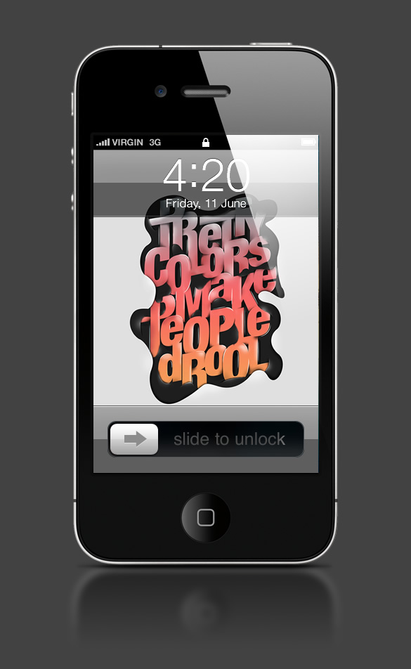 Abduzeedo's iPhone wallpaper of the week by Fabian De Lange