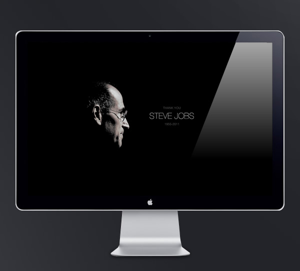 Abduzeedo's wallpaper of the week - Thanks Steve Jobs