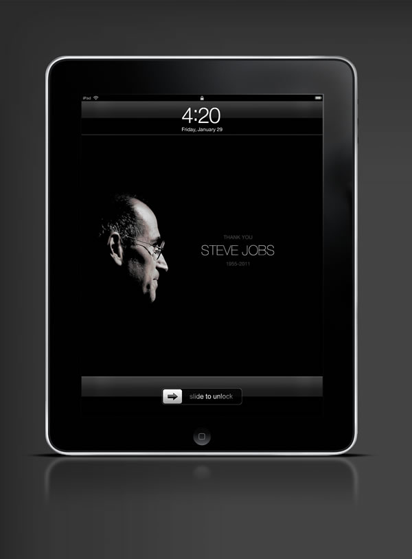 Abduzeedo's iPad wallpaper of the week - Thanks Steve Job