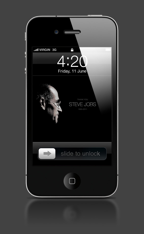 Abduzeedo's iPhone wallpaper of the week - Thanks Steve Job