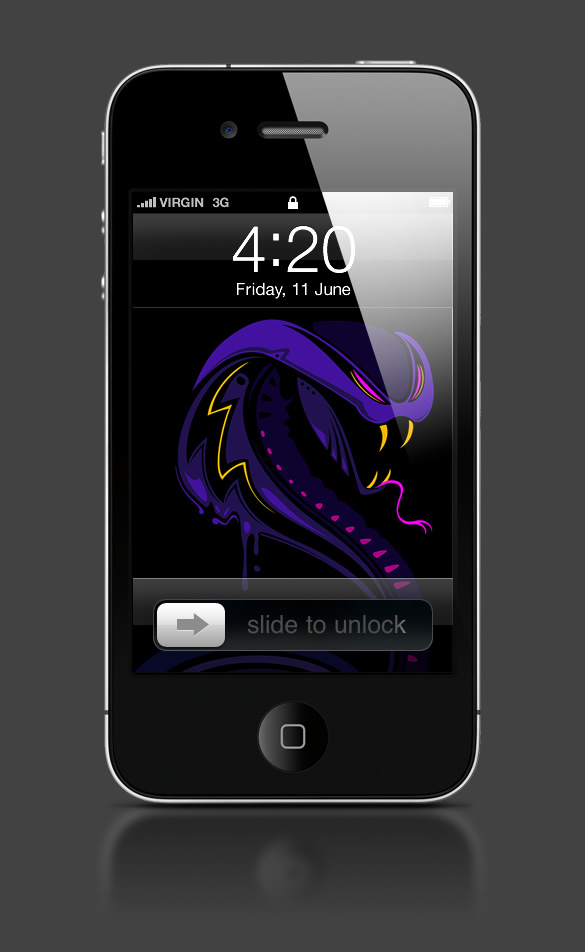 Abduzeedo's iPhone wallpaper of the week by Genaro DeSia Coppola