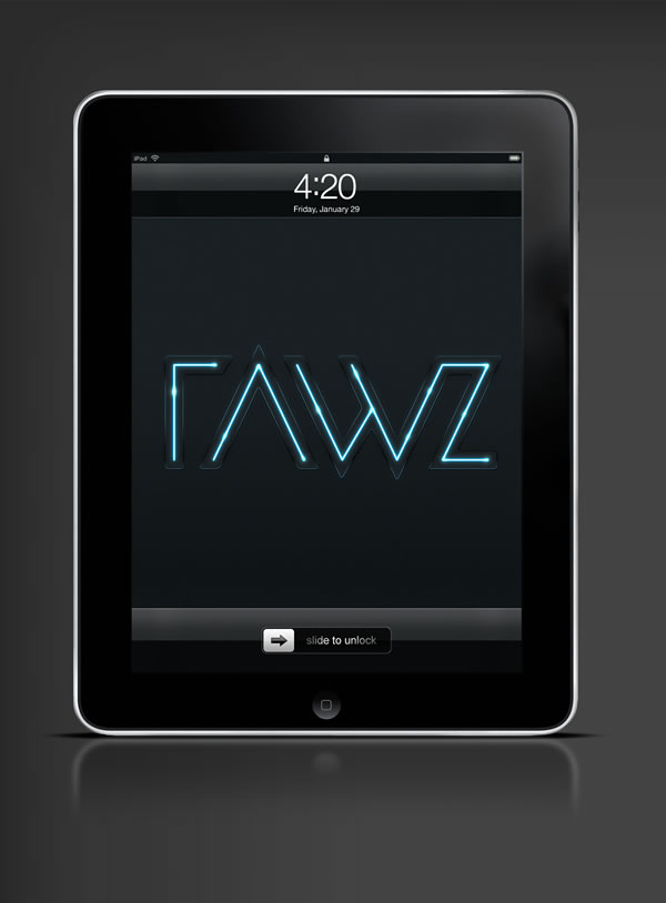 Abduzeedo's iPad wallpaper of the week by Rawz
