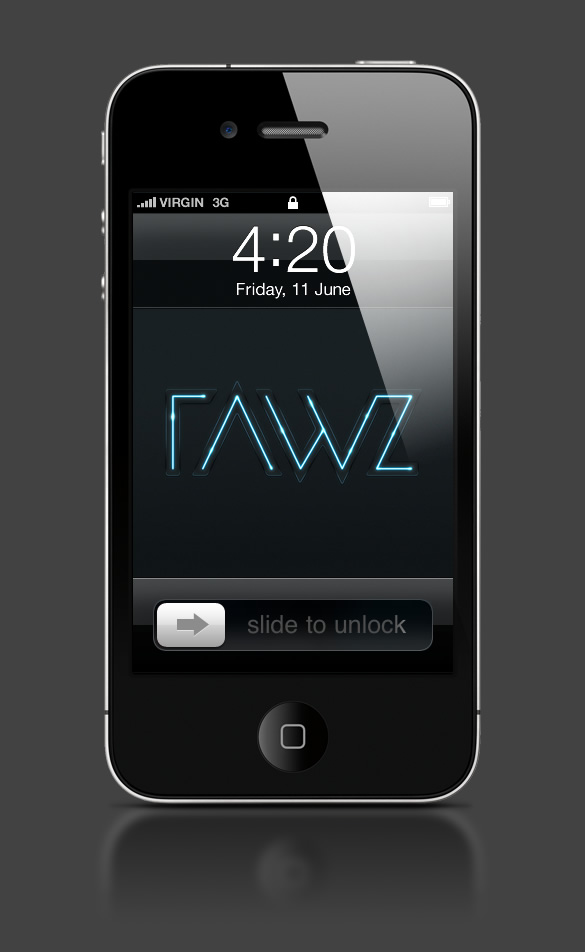 Abduzeedo's iPhone wallpaper of the week by Rawz