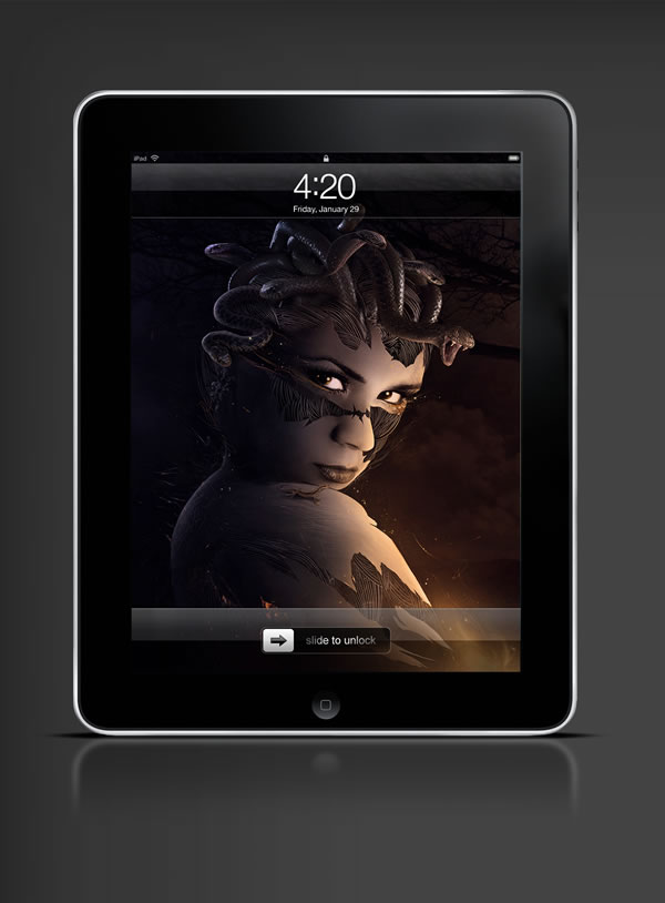 Abduzeedo's iPad wallpaper of the week by Przemek Nawrocki