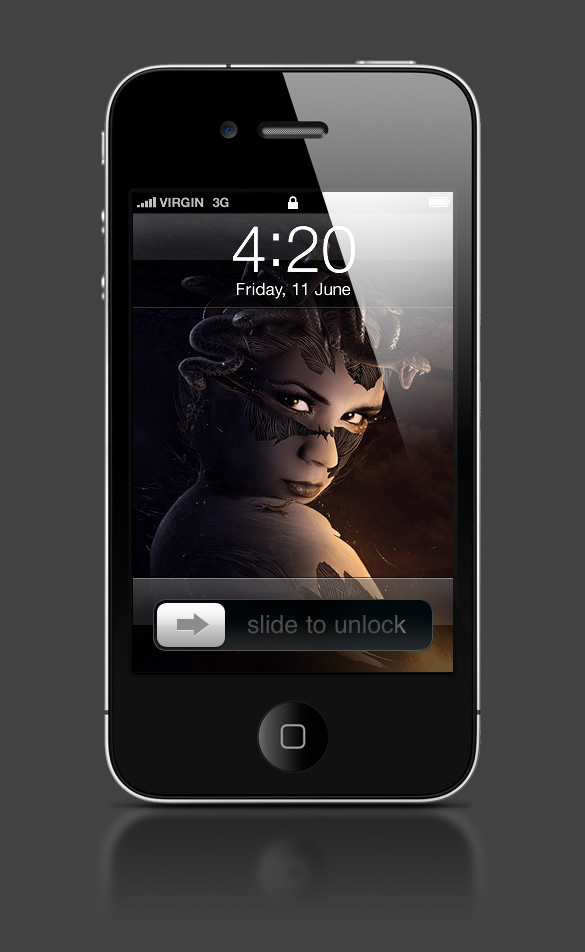 Abduzeedo's iPhone wallpaper of the week by Przemek Nawrocki