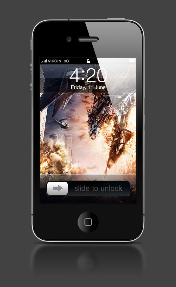 Abduzeedo's iPhone wallpaper of the week by Yvan Feusi