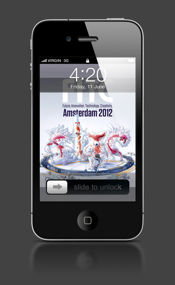 Abduzeedo's iPhone wallpaper of the week by Ars Thanea
