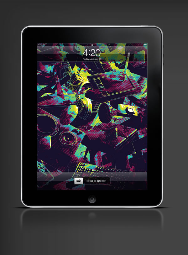 Abduzeedo's iPad wallpaper of the week by Alex Beltechi