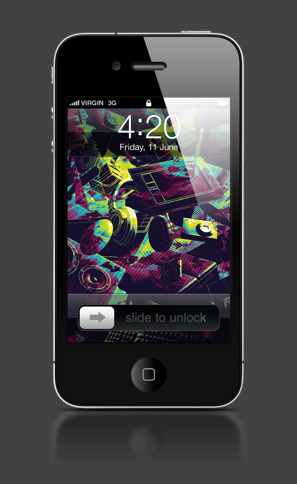 Abduzeedo's iPhone wallpaper of the week by Alex Beltechi