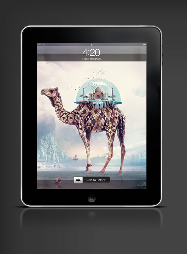 Abduzeedo's iPad wallpaper of the week by Anthony Harmon