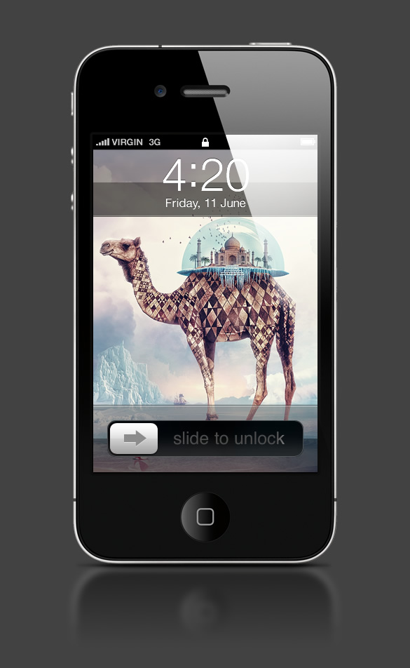 Abduzeedo's iPhone wallpaper of the week by Anthony Harmon