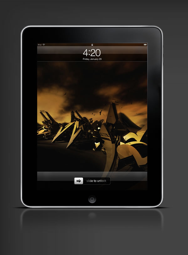 Abduzeedo's iPad wallpaper of the week by Jeff Huang