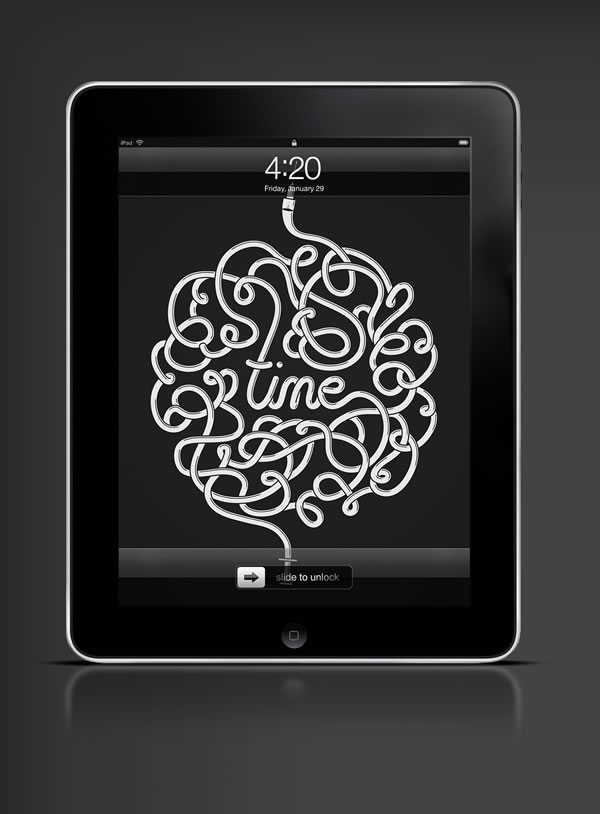 Abduzeedo's iPad wallpaper of the week by Mike Harrison