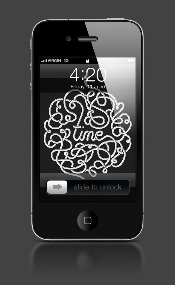 Abduzeedo's iPhone wallpaper of the week by Mike Harrison