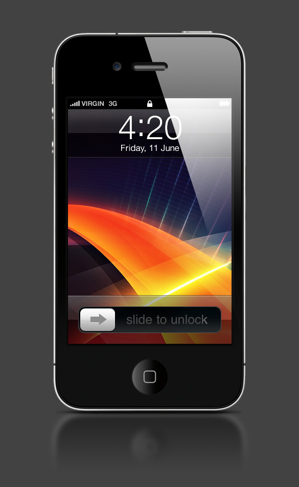 Abduzeedo's iPhone wallpaper of the week by PerfectHue