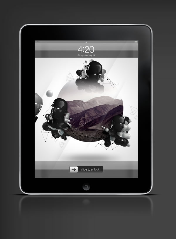 Abduzeedo's iPad wallpaper of the week by LeRoi3