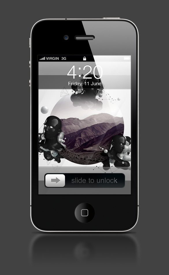Abduzeedo's iPhone wallpaper of the week by LeRoi3