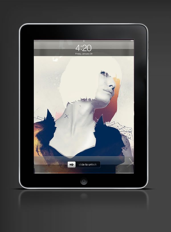 Abduzeedo's iPad wallpaper of the week by Bram Vanhaeren